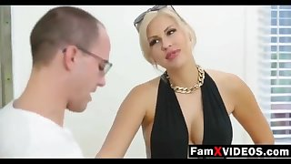 Steamy mommy pummels son-in-law and trains daughter-in-law - Total Free Mother Swelling Small screen at FamXvideos.com