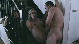 Busty porn star, Brandi Love together with a handsome male, James Deen are fucking in slay rub elbows with porn studio