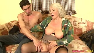 Victorian added to hottie Granny Norma sex video