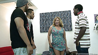 Raunchy mature slut Karen Summer gets gangbanged like never forwards