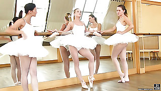 Valerie Fox is one cute ballerina who loves lesbian three way encounters