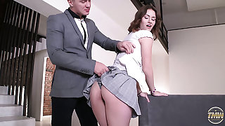 Horn-mad stud joins stunning coed chick Sofy Torn and fucks her hard
