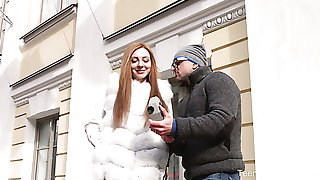 Stingy Czech pussy be proper of charming redhead deserves some complying missionary