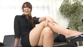 Nice jugs Yui Hatano enjoys teasing the camera and playing roughly toys