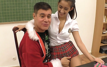 Velleity over a schoolgirl Darcia Lee for some brutal pussy draining